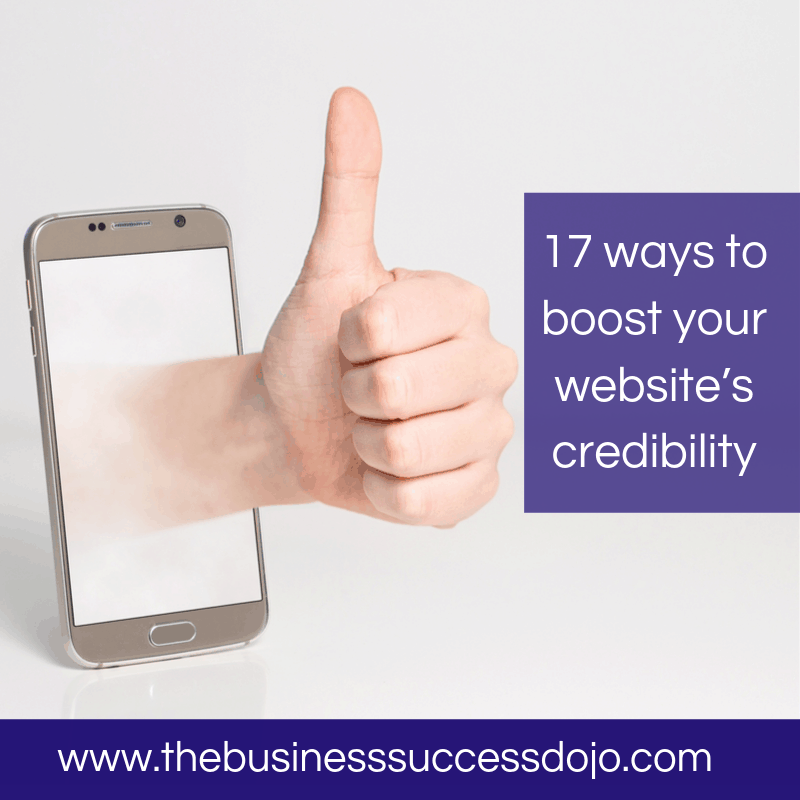 17 ways to boost your website's credibility
