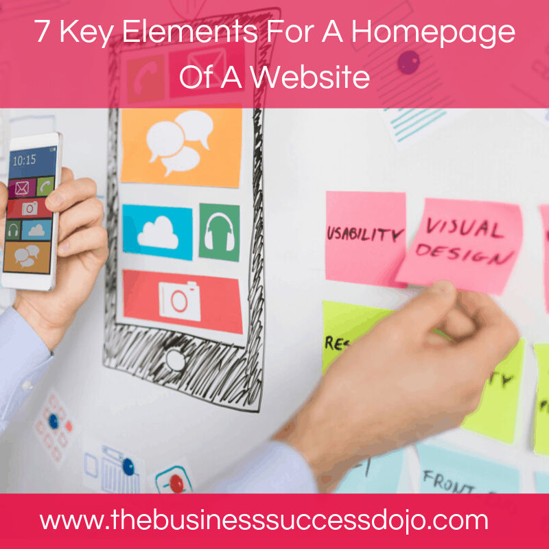 7 Key Elements For A Homepage Of A Website