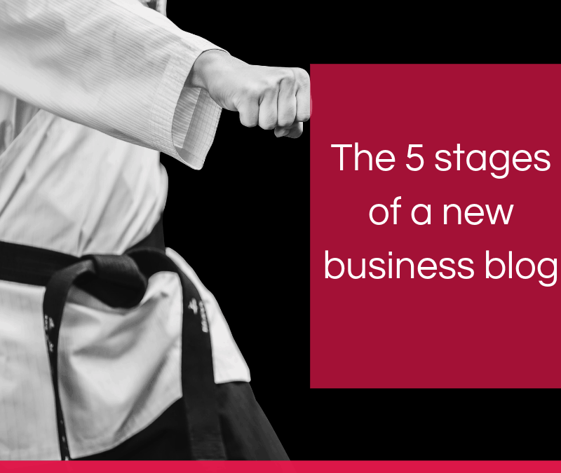 The 5 stages of a new business blog